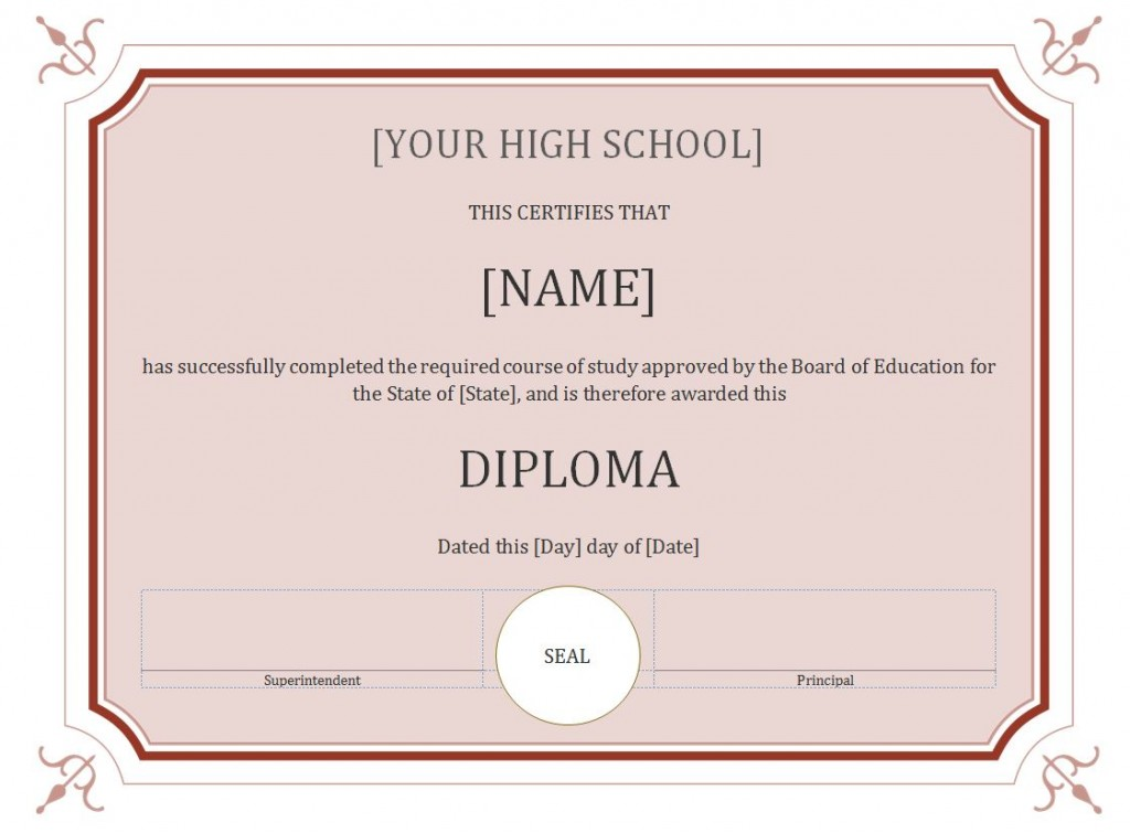 Crazy image in printable diploma template