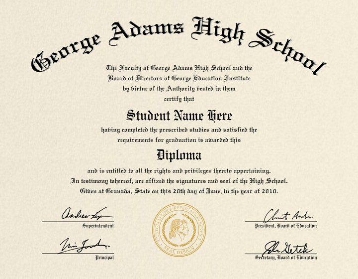 High school diploma template printable certificate for Free fake high school diploma templates