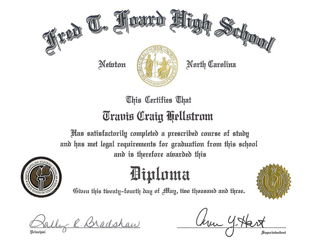 50+ FREE High School Diploma Template - Printable ...