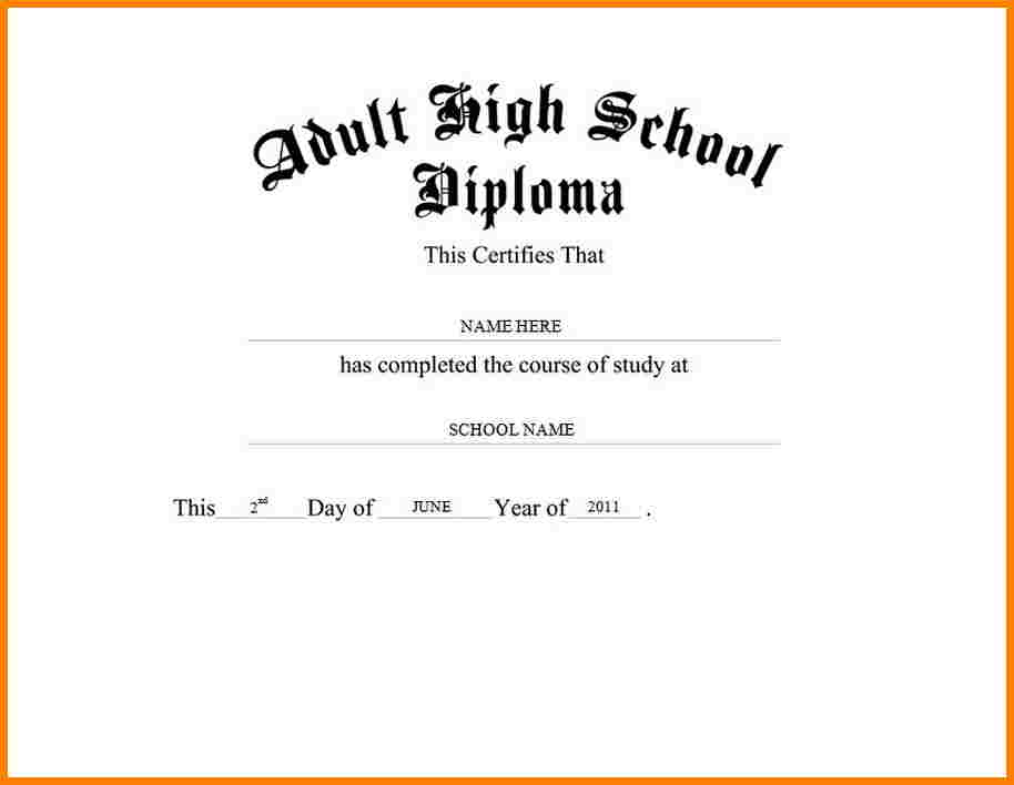 50 Free High School Diploma Template Printable