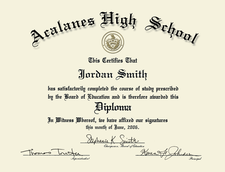 50 free high school diploma template printable certificates high school template high school diploma template yelopaper Images