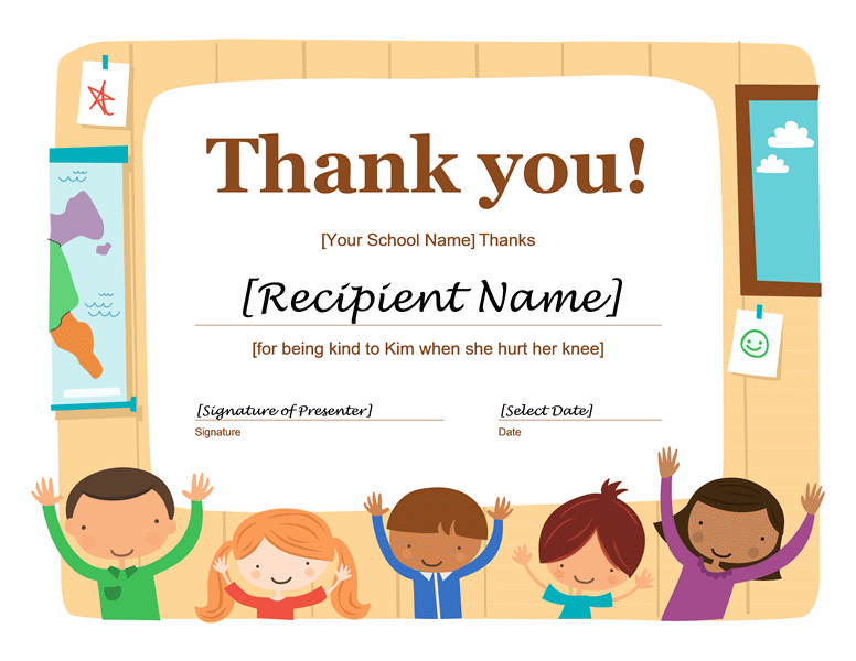 Thank You Certificate Free Printable Certificates