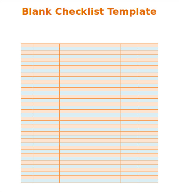 checklist template word free download the best home school guide. Black Bedroom Furniture Sets. Home Design Ideas